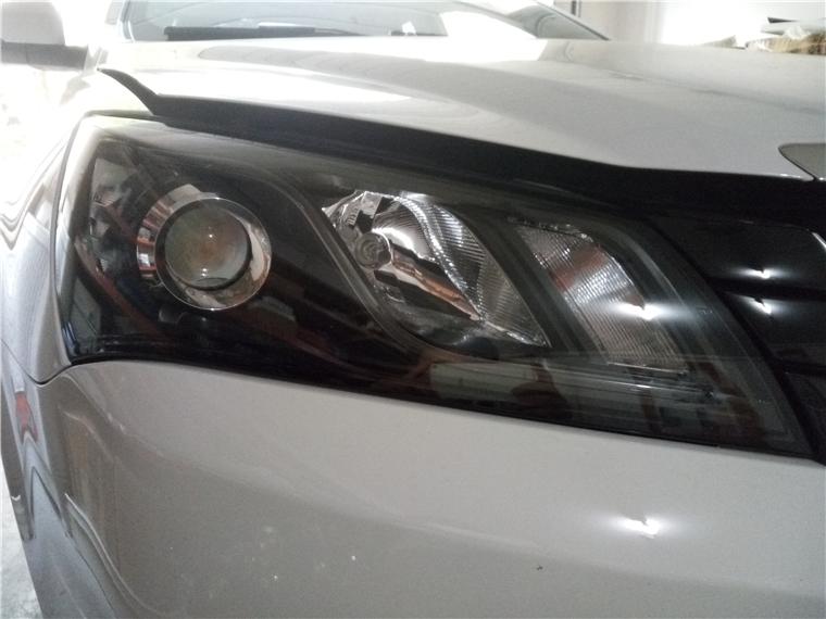 16款帝豪 车灯改装海拉五双光透镜, 氙气灯 原车:两近光两远光 改装后